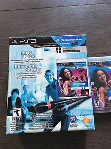 PS3 Singstar game with 2 microphones