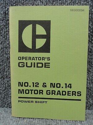 Oem Caterpillar Cat No.12 No.14 Motor Grader Power Shift Operators Guide Manual