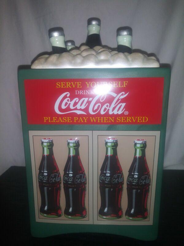 Coca Cola Cooler Cookie Jar Rare