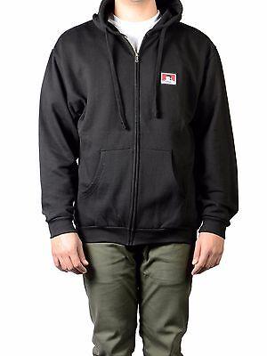 Schwarze Zip Hooded Sweatshirt (ORIGINAL BEN DAVIS HOODED ZIP SWEATSHIRT BLACK (Workwear Old School) )