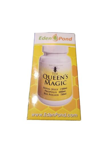 Eden Pond Queen's Magic Bee Pollen (Royal Jelly 1000mg, Propolis 750mg, Beepolle