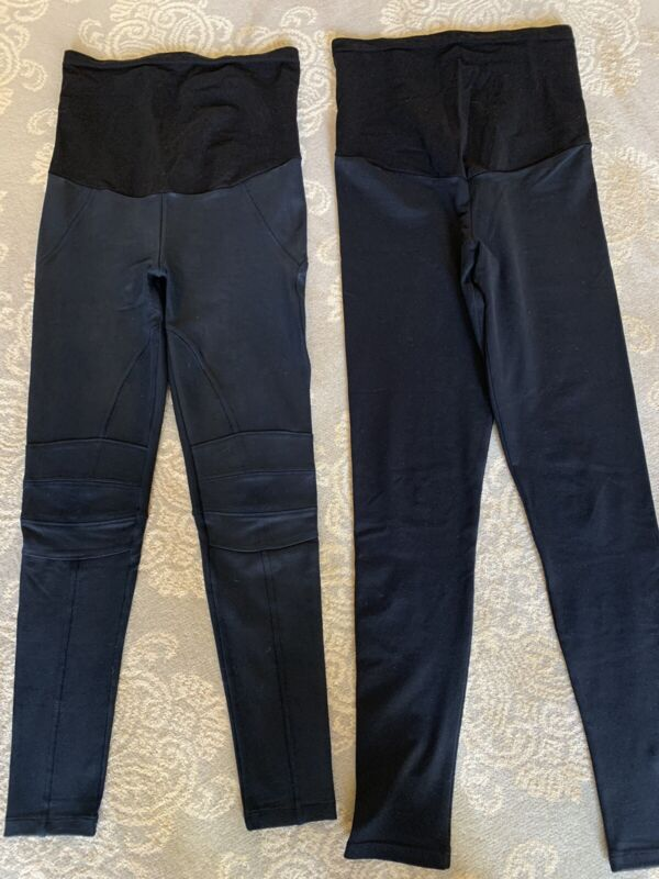 Lot Of 2 A Pea In The Pod P Collection Maternity Pants Leggings - Sz Small