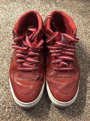 Half Cab Skate Shoes - VTG VANS 2009 SIZE 10.5 HUF HALF CAB 3 feet high RED SNAKESKIN SKATE SHOES VG