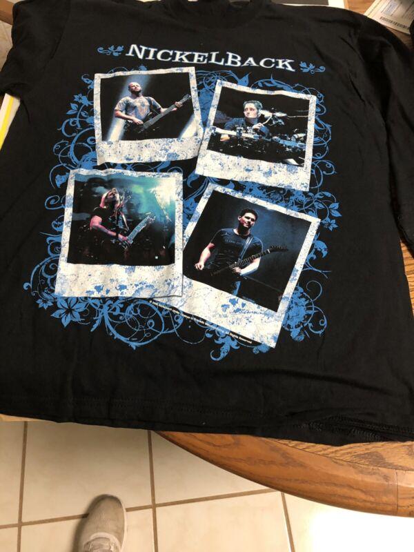 Nickelback Long Sleeve Official Comcert Shirt Sz M 2009!Dark Horse Tour New