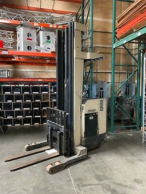 Crown Rr-3000 Indoor Electric Tall Warehouse Fork Lift Forklift Works