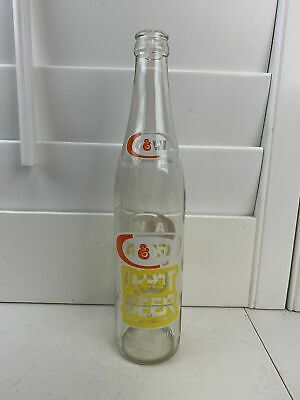 Vintage Old A & W Root Beer Empty Bottle 16 0z