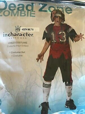 Dead Musician Halloween Costumes (Spirit Halloween Dead Zone Football Player Zombie Costume Youth Age 8 52-53)