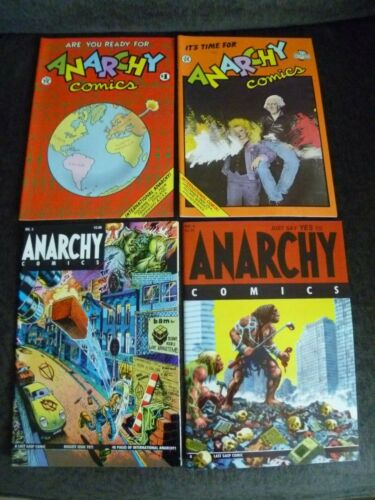 Anarchy Comics #1 #2 #3 #4 Last Gasp Underground Comix Complete Set 1st Printing