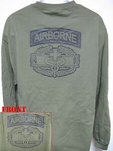 AIRBORNE-COMBAT-MEDIC-LONG-SLEEVE-T-SHIRT-MILITARY-ARMY-THICK-NEW