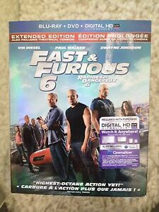 Fast and Furious 6 Extended Edition Blu-Ray and DVD - Unopened