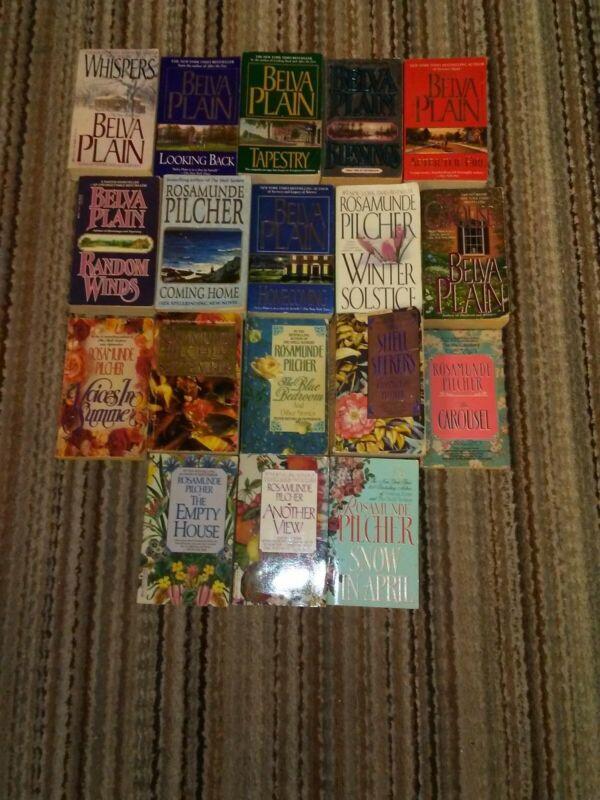ROSAMUNDE PILCHER, BELVA PLAIN lot of 18 paperbacks