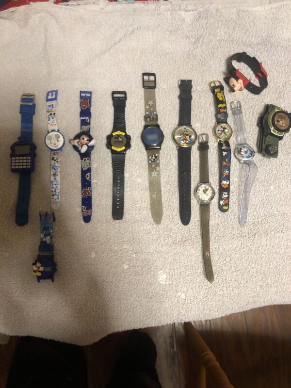 Mickey Mouse LOT Of 12 WATCHEs  Free Shipping