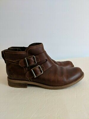 Timberland Earthkeepers 3114 Savon Hill Double Buckle Ankle Boots, Women's US 9