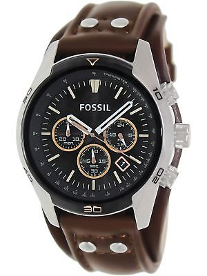 Fossil Men's Coachman CH2891 Brown Leather Quartz Watch with