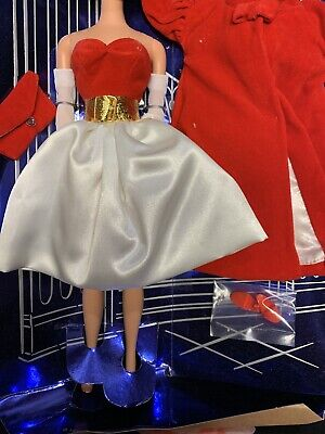 Silkin Flame Barbie reproduction suit outfit set lot Red flare Hat Belt Complet