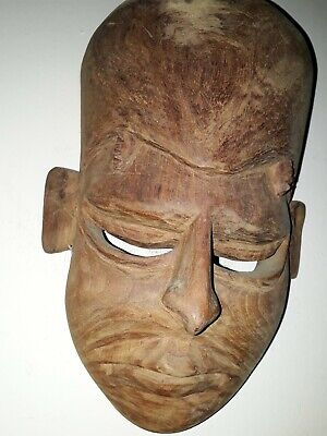 OLD VINTAGE WOOD CARVED MASK