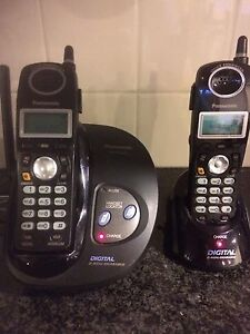 Panasonic 2.4 GHZ Cordless phones new batteries and 2 handsets