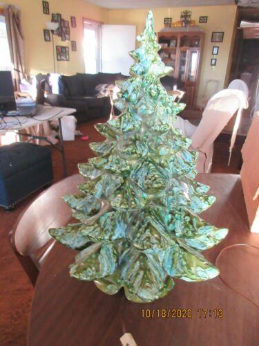 21 inch Vintage Atlantic Mold Ceramic Christmas Tree