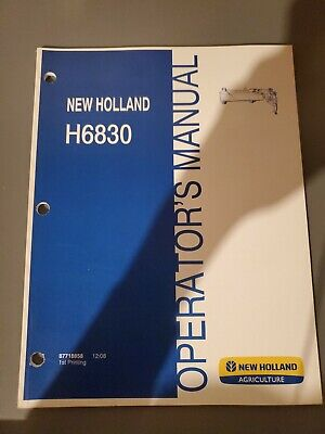 New Holland H6830 Pull Type Disc Mower Operators Manual  87718858