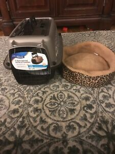 New pet kennel and bed