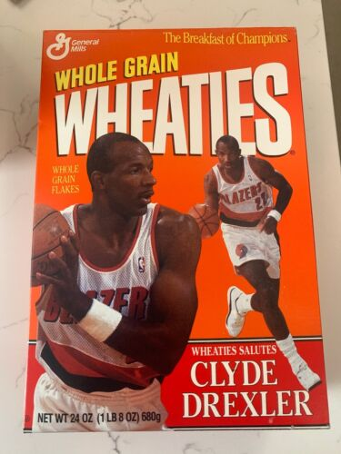 Sealed Unopened 1994 Clyde Drexler Wheaties Box Vintage General Mills