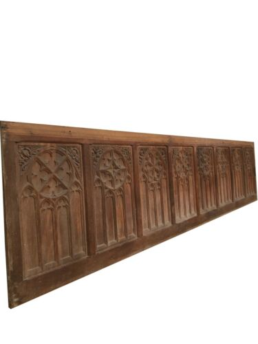 French Gothic Architectural Panels Wainscoting 12 Feet