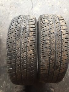 Two tires good tread 205/65r15 $60text 902 223 2108