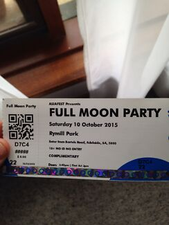 Asiafest Full Moon Party ticket x 2 Blackwood Mitcham Area Preview