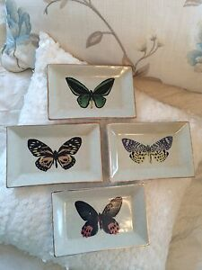 Botanical Butterfly HandPainted Porcelain Wall Plates Kingsholme Gold Coast North Preview