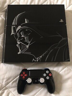 Limited Edition PlayStation 4 Star Wars 500GB Darth Vader PS4 Console - Low Use!