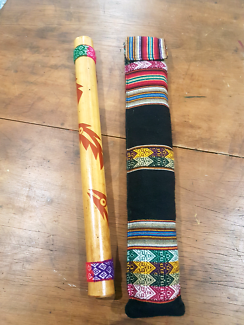 Rain stick percussion instrument with case