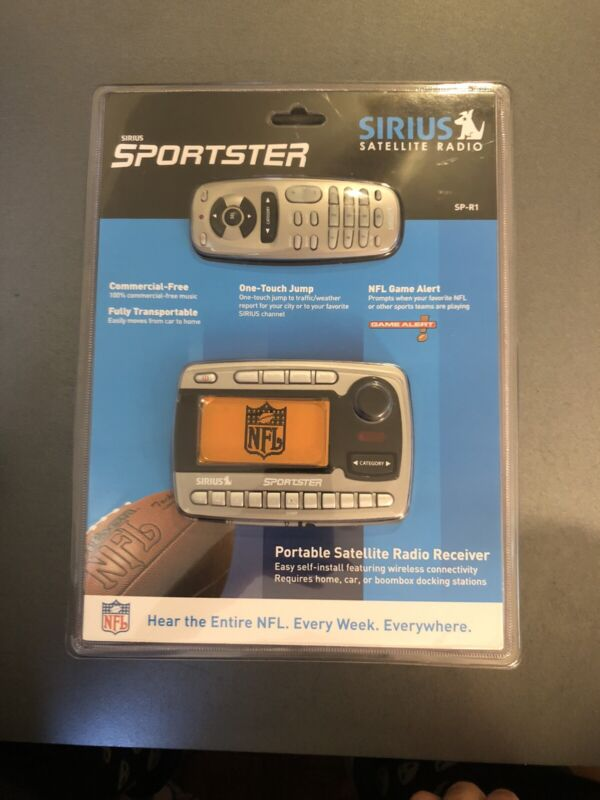 New sealed Sirius Sportster SP-R1 Satellite Radio Receiver & remote Only SPR1