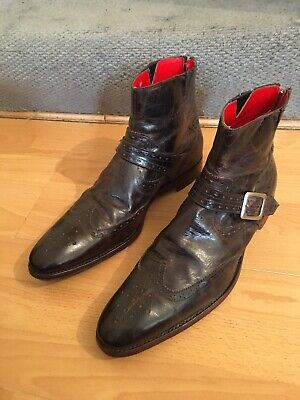 Jeffery West Lemmy Brown Leather Brogue Boot Uk 12, RRp£320. Made In England