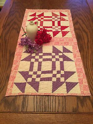 54 72 Pink Rose Table Runner Reversible Table Runner Mauve Cabbage Rose Table Runner Spring Shabby Chic Table Runner Pink Rose Table Decor
