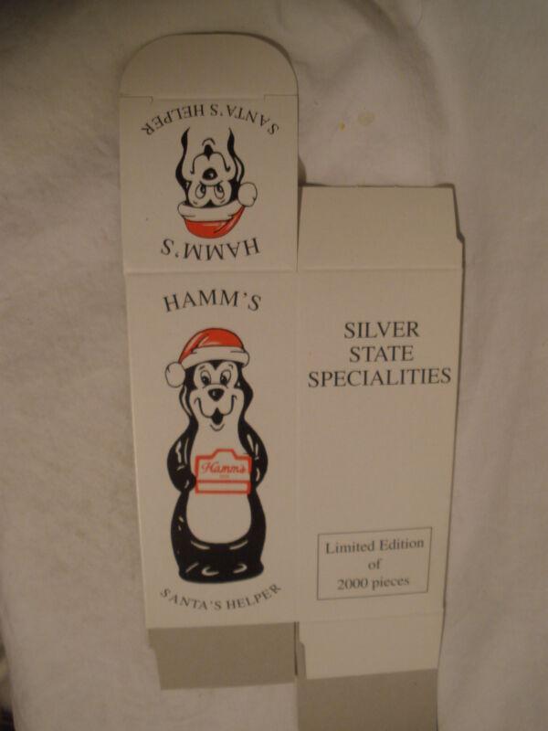 "HAMM'S BEER ""SANTA'S HELPER"" FIGURINE BOX ONLY (1)"