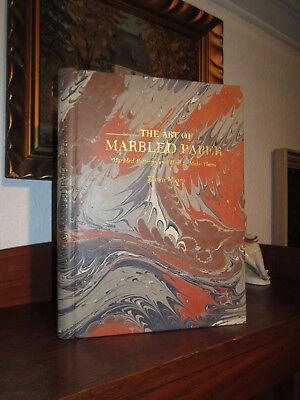 MIURA-MARBLED PAPER/MARMORPAPIER VA 1/250 Signiert LEDER HANDEINBAND Buchbinder