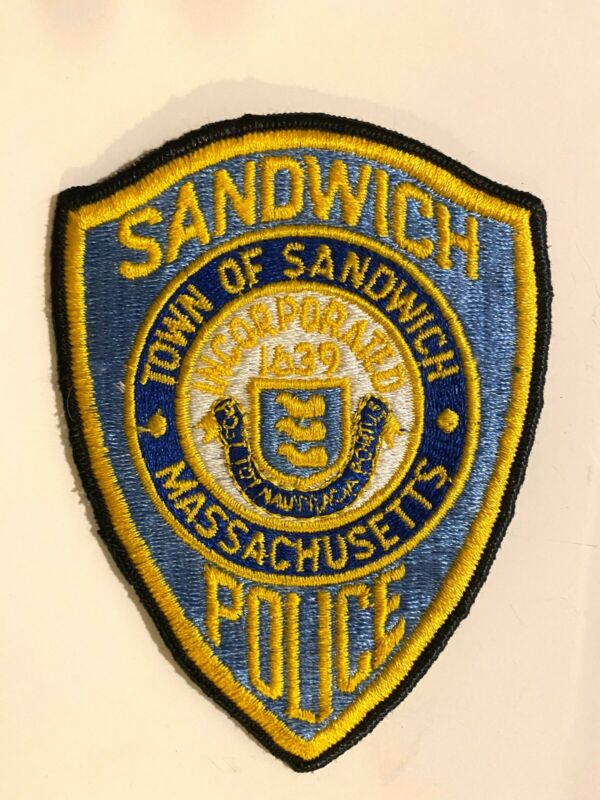 Sandwich Massachusetts Police Department Patch