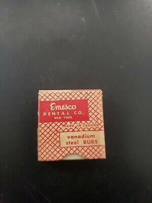 Vintage Nos Emesco Vandium Steel Burs 6 560 Dental Tool