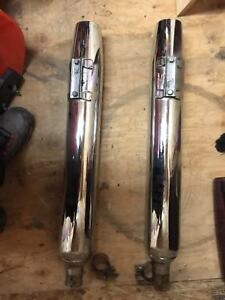 Harley Road King mufflers