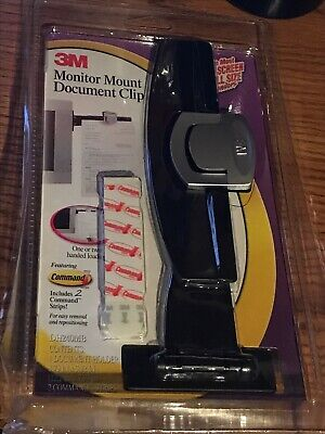 3m Monitor Mount Document Clip 5-30 Sheets Capacity Black