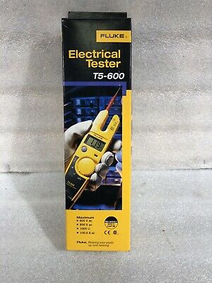 Brand New Fluke T5-600 Voltage Us Ver Continuity And Current Tester 600v Acdc