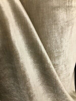BEIGE 100% COTTON VELVET HEAVY WEIGHT UPHOLSTERY FABRIC (58 in.) Sold BTY