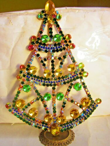 BEAUTIFUL CZECH HANDMADE CHRISTMAS TREE DECORATION STANDING SIGNED