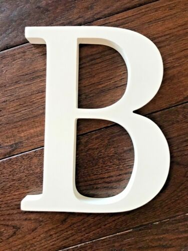 """POTTERY BARN KIDS Wall Letter 8inch White """"B"""" ($10)"""
