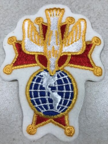 """2 KNIGHTS OF COLUMBUS - 4th Degree Patches  4"""" H  K of C"""