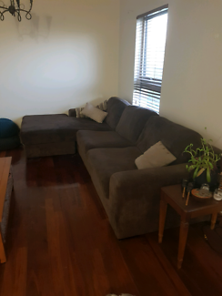 3 Seater reversible chaise couch with Occasional Chair