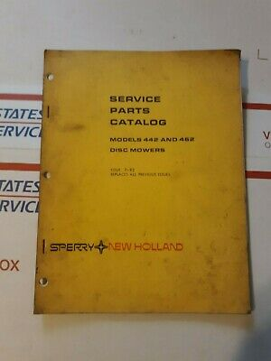 Sperry New Holland 442 And 462 Disc Mowers Service Parts Catalog