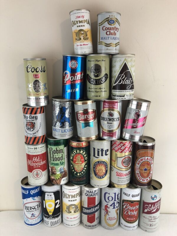 Lot of 24 Old Beer Cans - Mix of 12oz and 16oz