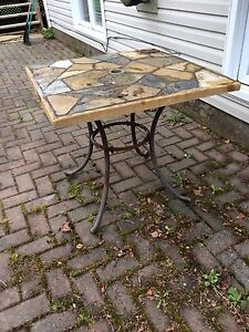 Solid stone table