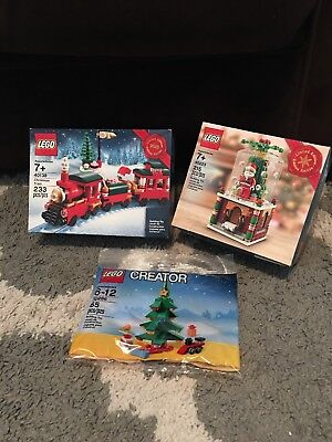 Lego Holiday 2015 Limited Edition 40138 40223 30286 Christmas Train Snowglobe